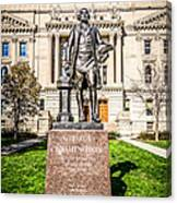George Washington Statue Indianapolis Indiana Statehouse Canvas Print