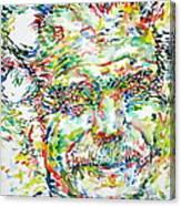Georges Brassens Portrait Canvas Print