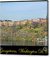 Georgetown Poster Canvas Print