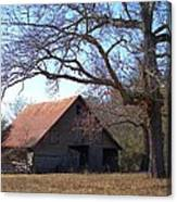 Georgia Barn In Winter Canvas Print