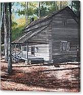 Georgia Cabin In The Woods Canvas Print