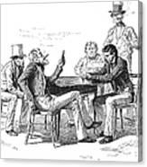 Georgia: Poker Game, 1840s Canvas Print