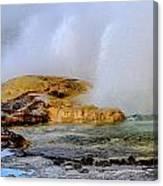 Geothermal Geyser On Yellowstone Lake Canvas Print