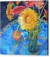 Gerberas Canvas Print