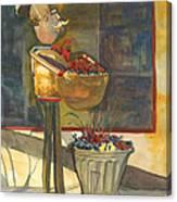 Gere-a-delis Brass Chef Canvas Print