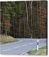 German Country Road Canvas Print