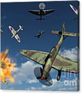 German Ju 87 Stuka Dive Bombers Canvas Print
