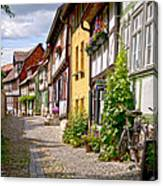 German Old Village Quedlinburg Canvas Print