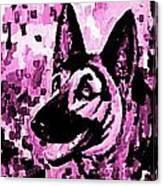 German Shepard In Purples Canvas Print