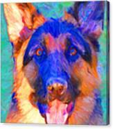 German Shepard - Painterly Canvas Print