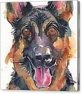German Shepherd Watercolor Canvas Print