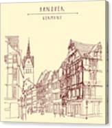 German Town, Walking Street, Timber Canvas Print