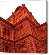 German Train Station In Red Canvas Print