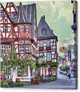 German Village Along Rhine River Canvas Print