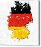 Germany Painted Flag Map Canvas Print
