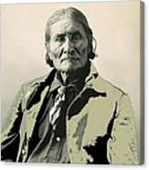 Geronimo As Photographed By A. Rinehart Omaha Nebrasks  1898-2013.  Canvas Print