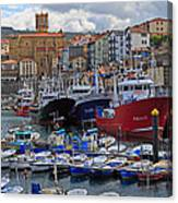Getaria In Basque Country Spain Canvas Print