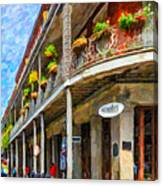 Getting Around The French Quarter - Watercolor Canvas Print