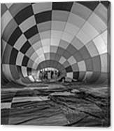 Getting Inflated-bw Canvas Print