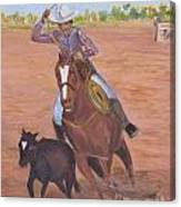 Getting Ready For Rodeo Canvas Print
