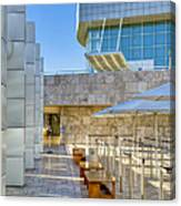 Getty Center Tram Waiting Area Brentwood  Ca Canvas Print