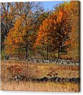 Gettysburg At Rest - Autumn Looking Towards The J. Weikert Farm Canvas Print