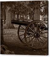 Gettysburg Cannon B W Canvas Print