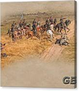 Gettysburg Cyclorama Detail Pickett's Charge  Canvas Print