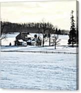 Gettysburg Farm In The Snow Canvas Print