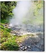 Geyser Hot Spring In Huai Nam Dang National Park In Chiang Mai Canvas Print
