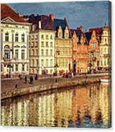 Ghent Waterfront Canvas Print