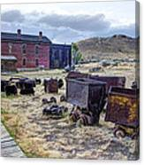 Ghost Mining Town Of Montana Canvas Print