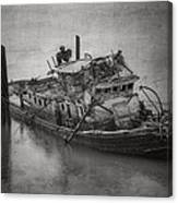 Ghost Steamer In Bw Canvas Print