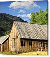 Ghost Town Barn And Stable Canvas Print