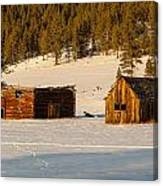 Ghost Town Buildings Canvas Print