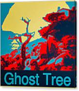 Ghost Tree Poster Canvas Print