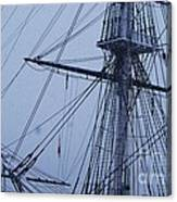 Ghostly Rigging In Snow Canvas Print