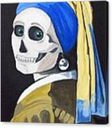 Ghoul With Pearl Earring Canvas Print