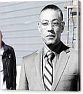 Giancarlo Esposito as Gustavo Fring and Aaron Paul as Jesse Pinkman @ TV serie  Breaking Bad Canvas Print