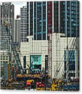 Downtown Chicago High Rise Construction Site Canvas Print