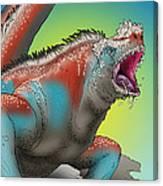 Giant Marine Iguana Canvas Print