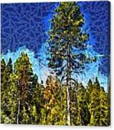 Giant Tree Abstract Canvas Print