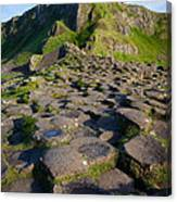 Giant's Causeway Green Peak Canvas Print
