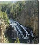 Gibbon River And Falls Canvas Print