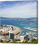 Gibraltar City And Bay Canvas Print