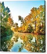 Gibralter Mi Waterway Canvas Print