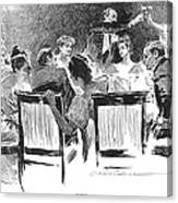 Gibson: Dinner Party, 1894 Canvas Print