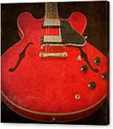 Gibson Es-335 Electric Guitar Body Canvas Print