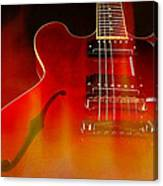 Gibson Es-335 On Fire Canvas Print
