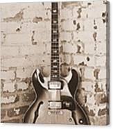 Gibson In Sepia Canvas Print